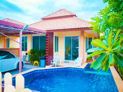บ้านพักชะอำ รินลดา พูลวิลล่า Rinlada House Cha-Am