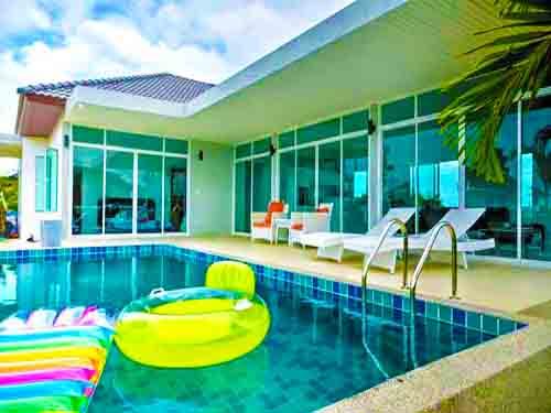 ที่พักชะอำ บ้านพัก เดอะ เรสโทร ชะอำ พูลวิลล่า The Restro Poolvilla Cha-Am