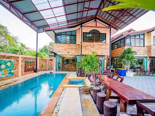 บ้านพักหัวหิน บ้านพักชะอำ มณีนาคร พูลวิลล่า Maninakorn Poolvilla Cha-Am