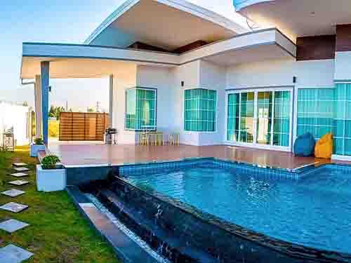 บ้านพักหัวหิน เดอะไนน์ พูลวิลล่า The Nine Poolvilla Huahin