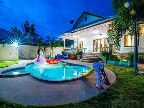 บ้านพักชะอำ บัญดารา พูลวิลล่า Bandara Cha-Am poolvilla