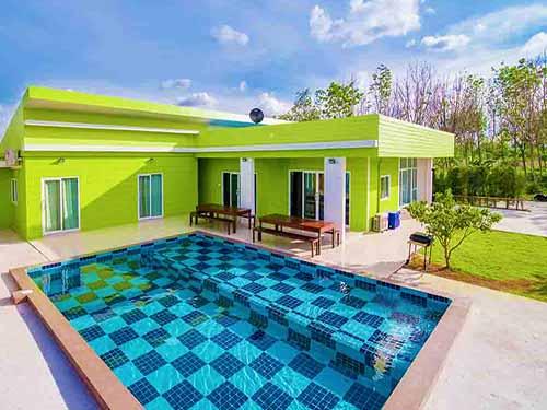 บ้านพักหัวหิน กรีน เฮาส์ หัวหิน ชะอำ พูลวิลล่า Green House Huahin Cha-Am Poolvilla Hotel