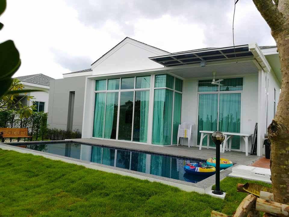 บ้านพักชะอำ เมธาวลัย ชะอำ พูลวิลล่า Model 1