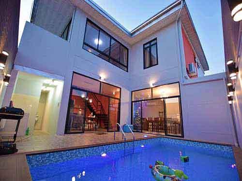 จองที่พักหัวหิน บังกะโลหัวหิน บ้านพักหัวหิน เดอะ ลอฟต์ทาวน์ หัวหิน พูลวิลล่า The Loft Town Poolvilla Huahin 4 bedroom hotel