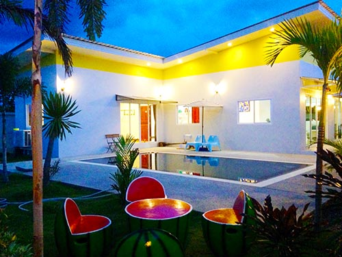 บ้านพักหัวหิน ฟูลมูน หัวหิน พูลวิลล่า Fullmoon Huahin Poolvilla