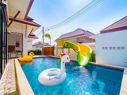 สุรินตรา พูลวิลล่า Surintra Huahin Poolvilla พูลวิลล่า ที่พักหัวหินราคาถูก ที่พักหัวหินใกล้ทะเล จองที่พักหัวหิน บ้านพักมีสระว่ายน้ำ โรงแรมหัวหิน ติดทะเล