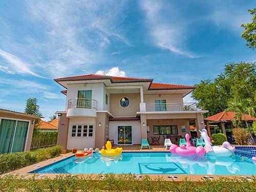 บ้านพักหัวหิน เอวา พูลวิลล่า หัวหิน Ava Huahin hotel พูลวิลล่า ที่พักหัวหินราคาถูก ที่พักหัวหินใกล้ทะเล จองที่พักหัวหิน บ้านพักมีสระว่ายน้ำ โรงแรมหัวหิน ติดทะเล